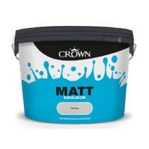 Crown Soft Grey 10L Matt emulsion